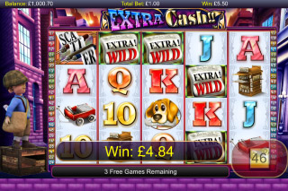 Extra Cash Mobile Slot Screenshot
