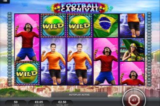 Football Carnival Mobile Slot Screenshot
