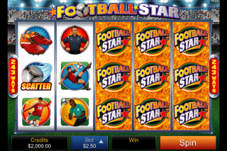 Football Star Mobile Slot Screenshot