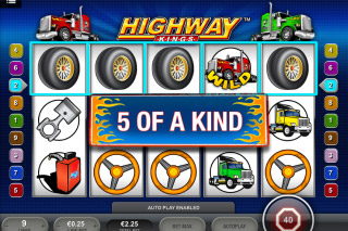 Highway Kings Mobile Slot 5 of a Kind Win