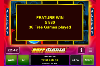 Hoffmania Mobile Slot Big Win