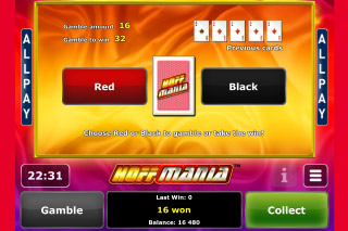 Hoffmania Mobile Slot Gamble Feature