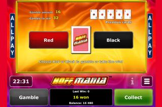 Hoffmania Mobile Slot Gamble Feature