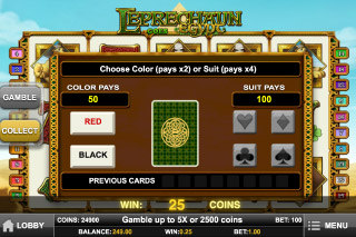 Leprechaun Goes Egypt Slot Gamble Feature