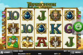 Leprechaun Goes Egypt Mobile Slot Screenshot
