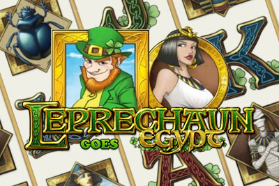 Leprechaun Goes Egypt Mobile Slot Logo