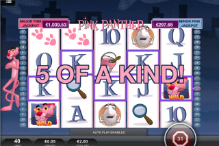 Pink Panther Mobile Slot 5 of a Kind