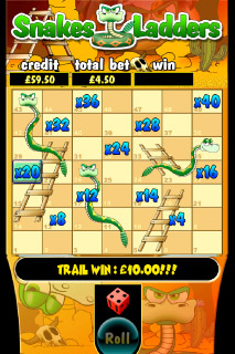 Snakes & Ladders Mobile Slot Bonus Game