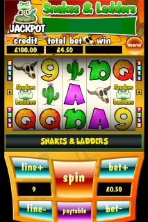 Snakes & Ladders Mobile Slot Screenshot