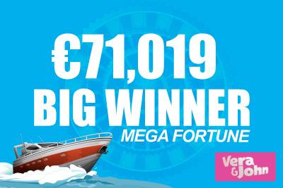 Mega Fortune Jackpot Slot Pays Out at Vera&John