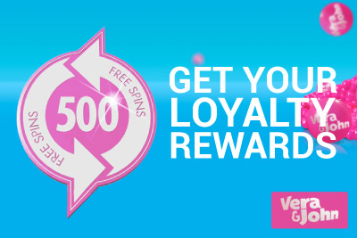 Loyalty Rewards, Free Spins & More at Vera&John