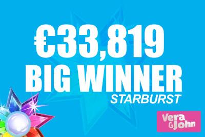 Starburst Slot Pays Out Big at Vera&John Casino