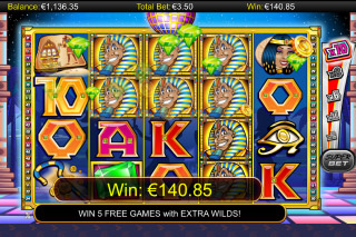 A While on the Nile Mobile Slot Game Win