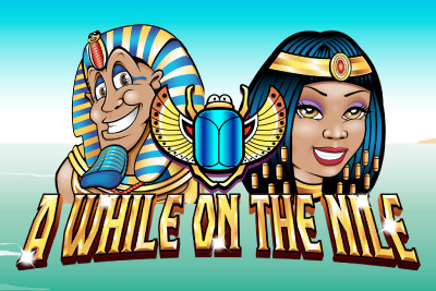 A While on the Nile Mobile Slot Logo