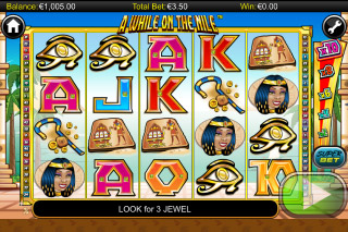 A While on the Nile Mobile Slot Screenshot