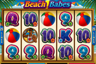Beach Babes Mobile Slot Screenshot