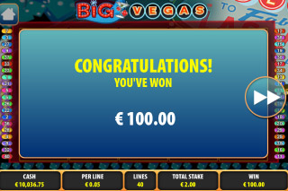 Big Vegas Mobile Slot Big Win