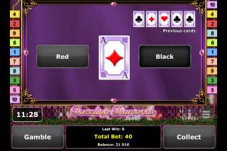 Dazzling Diamonds Mobile Slot Gamble Feature
