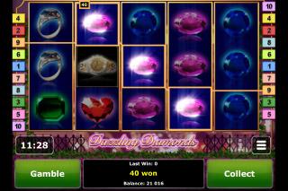 Dazzling Diamonds Mobile Slot Screenshot