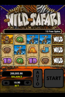 Go Wild On Safari Mobile Slot Screenshot