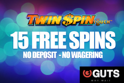 Get 15 No Deposit Free Spins at Guts Mobile Casino