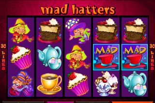 Mad Hatters Mobile Slot Screenshot