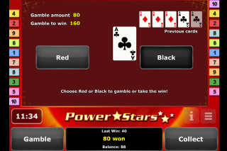 Power Stars Mobile Slot Gamble Feature