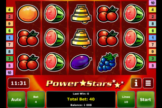 Power Stars Mobile Slot Screenshot