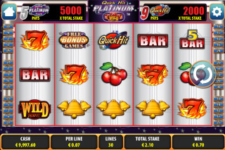 Quick Hit Platinum Mobile Slot Screenshot