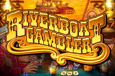 Riverboat Gambler Mobile Slot Logo