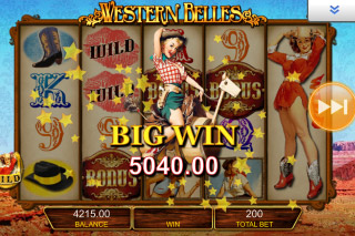 Western Belles Mobile Slot Big Win