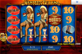 Western Belles Mobile Slot Bonus Spins