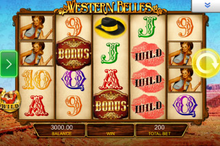Western Belles Mobile Slot Screenshot