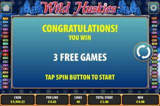 Wild Huskies Mobile Slot Free Games
