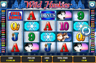 Wild Huskies Mobile Slot Screenshot