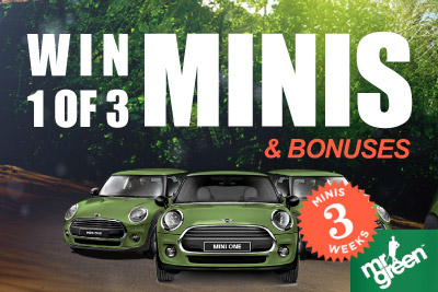 Win A Mini a Week at Mr Green Mobile Casino in June 2014
