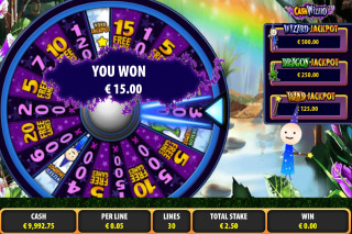 Cash Wizard Mobile Slot Mystery Wheel