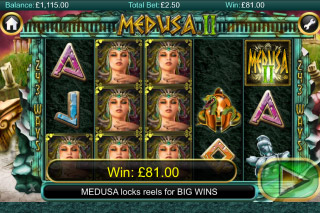 Medusa II Mobile Slot Stacked Wilds