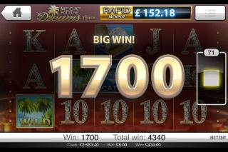 Mega Fortune Dreams Big Win