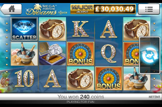 Mega Fortune Dreams Mobile Slot Screenshot