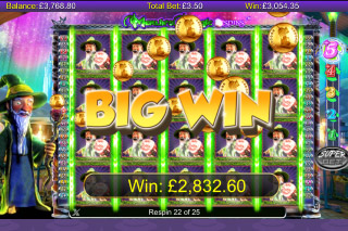 Merlin's Magic Respins Mobile Slot Big Win