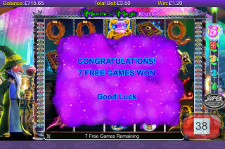 Merlin's Magic Respins Mobile Slot Free Games