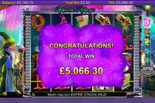Merlin's Magic Respins Mobile Slot Free Games Win