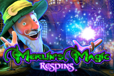 Merlin's Magic Respins Mobile Slot Logo