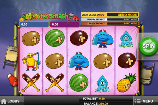 Monster Smash Mobile Slot Screenshot