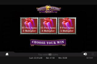 Piggy Riches Touch Mobile Slot Free Spins Pick