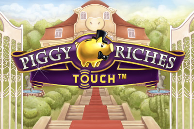 Piggy Riches Touch Mobile Slot Logo