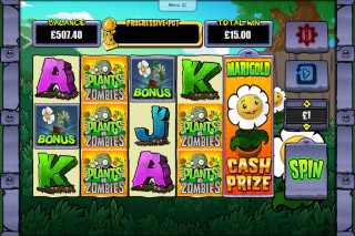 Plants Vs Zombies Mobile Slot Cash Prize