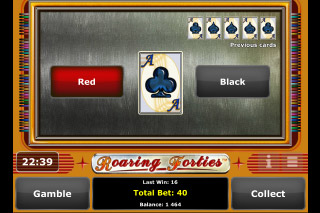 Roaring Forties Mobile Slot Gamble Feature