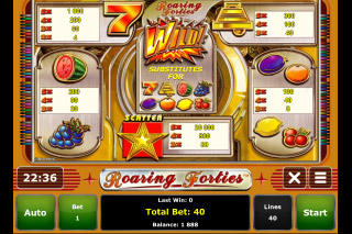 Roaring Forties Mobile Slot Paytable